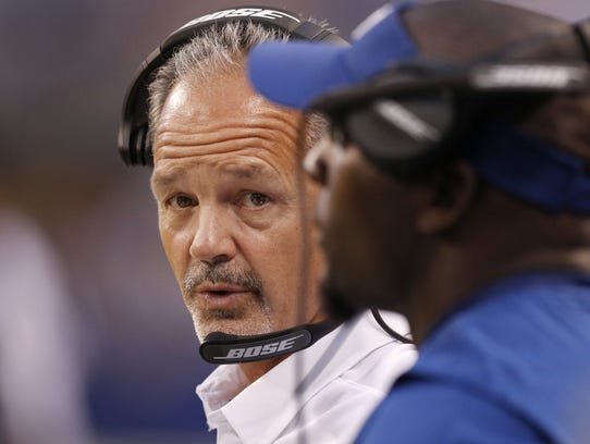 Indianapolis Colts head coach Chuck Pagano looks to