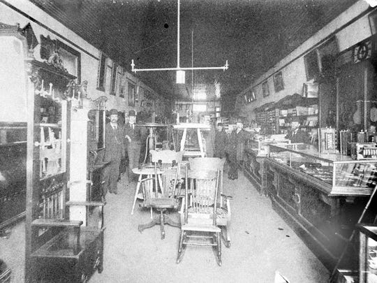 Inside Alles Brothers Furniture, circa 1899. Jacob