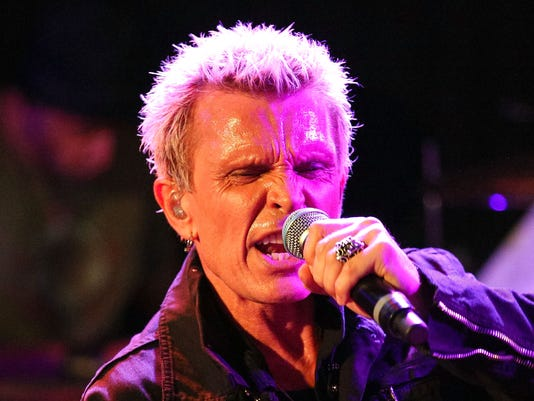 Billy Idol Performs For SiriusXM's Artist Confidential Series At The Troubador In Los Angeles