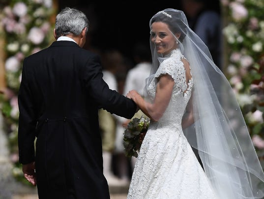 Pippa's wedding: Get the details on her stunning dress by Giles Deacon – USA TODAY