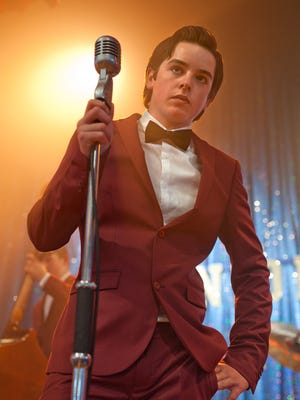 Ferdia Walsh-Peelo sports some 1950s duds in a 'Back to the Future'-inspired sequence in 'Sing Street.'