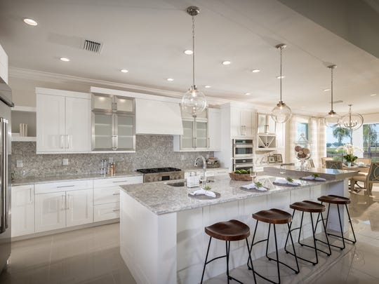 Toll Brothers won several Sand Dollar Awards. Shown is the Azure design at Hacienda Lakes.