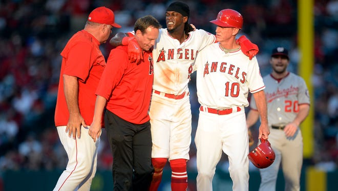 The Angels' Cameron Maybin is ready to resume his spot atop the Angels batting order after being out since July 18, when he injured his knee on a steal attempt against the Nationals.