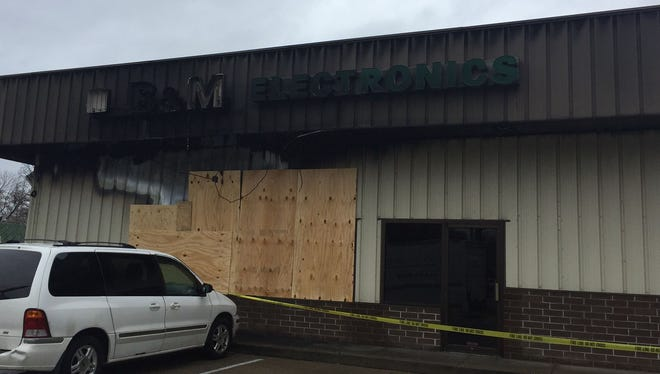 Evansville Police are investigating a possible arson at this East Side business after the building caught fire this week.