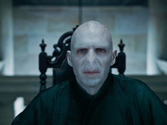 """Ralph Fiennes as Lord Voldemort in """"Harry Potter and"""