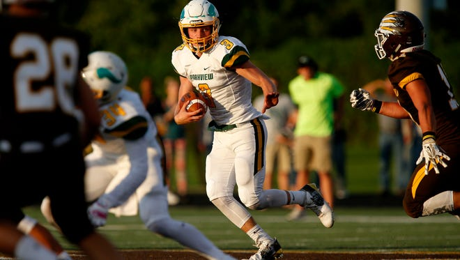 Parkview quarterback Trevor Boice carries the ball in this News-Leader file photo.