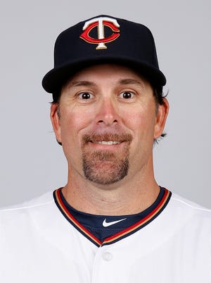 Doug Mientkiewicz in 2015, when he played for the Minnesota Twins.