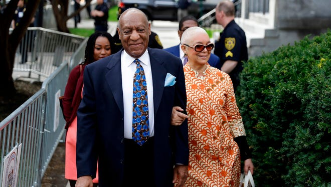 Bill Cosby and wife Camille Cosby arrive at Montgomery County Courthouse on April 24, 2018, in Norristown, Pa.