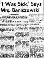 'I Was Sick,' Says Mrs. Baniszewski