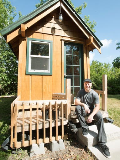 Richard Brown, the owner of Michigan Tiny House which