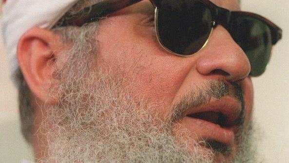 Sheik Omar Abdel-Rahman, shown in this April 6, 1993