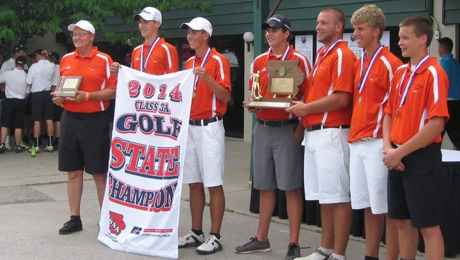 West Delaware of Manchester won the school's first state boys' golf championship Saturday.