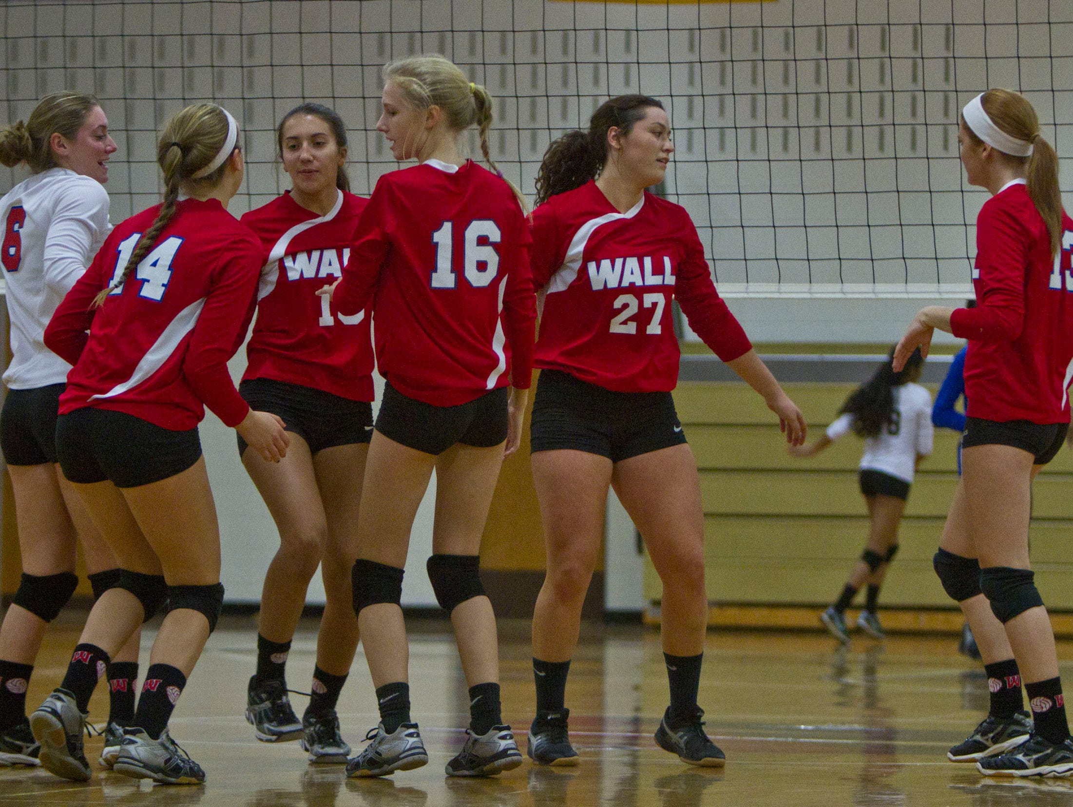 NJSIAA volleyball match between Wall and West Windsor Plainsboro North. Wall Township, NJ Wednesday, November 4, 2015 @dhoodhood