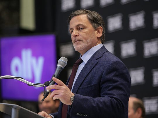 Quicken Loans founder and chairman Dan Gilbert speaks during a press conference at One Detroit Center in downtown Detroit on Tuesday March 31, 2015 while announcing the purchase of the downtown skyscraper.