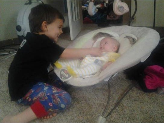 Connor J. Brown and his second cousin, Paisley.