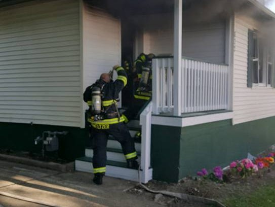 Asbury Park firefighters responded to a report of a