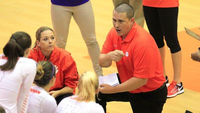 Clemson head coach Hugh Hernesman (right) was fired on Wednesday.