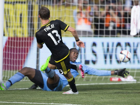 Ethan Finlay had 12 goals and 13 assists for the Columbus Crew this season.