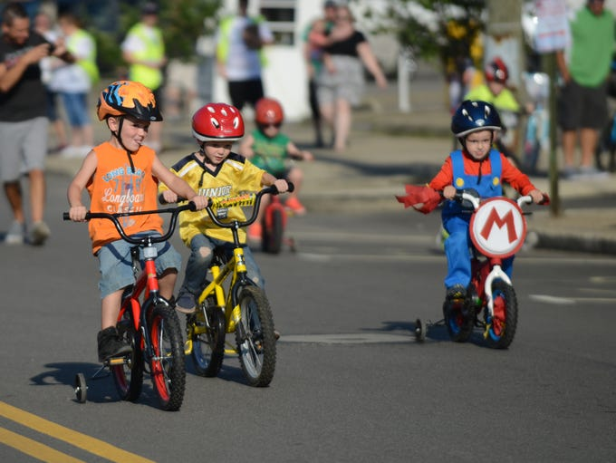 The Lancaster Festival's Children's Bicycle races were
