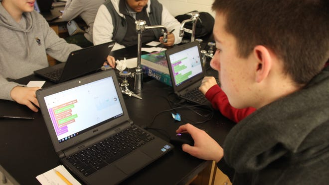 Middle- and high-school students in Wayne-Westland are learning computer coding.