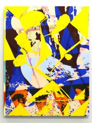 """Jered Sprecher's """"Way,"""" a 36-by-28 inch oil and inkjet"""