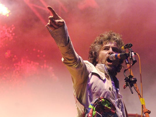 The Flaming Lips closed the first day of the 80/35 Music Festival on July 4, 2008.