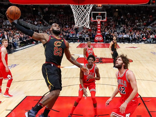 78b576483af3 Cleveland Cavaliers win 12th straight after rout of Chicago Bulls