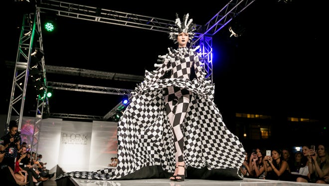 Rocky Gathercole's runway during Phoenix Fashion Week at Talking Stick Resort in Scottsdale on Saturday, Oct. 7, 2017.