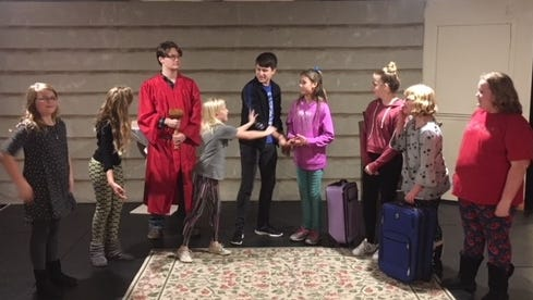 """Youth rehearse a performance of """"The Christmas Journey."""" It will be performed Dec. 8 to 10 at Prince of Peace Lutheran Church, 1756 Michigan St., Sturgeon Bay."""