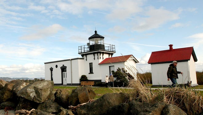 The lighthouse at Point No Point Park in Hansville.