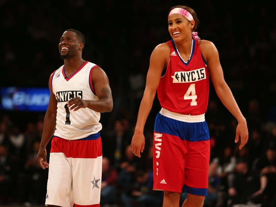 Television personality Kevin Hart and WNBA player Skylar
