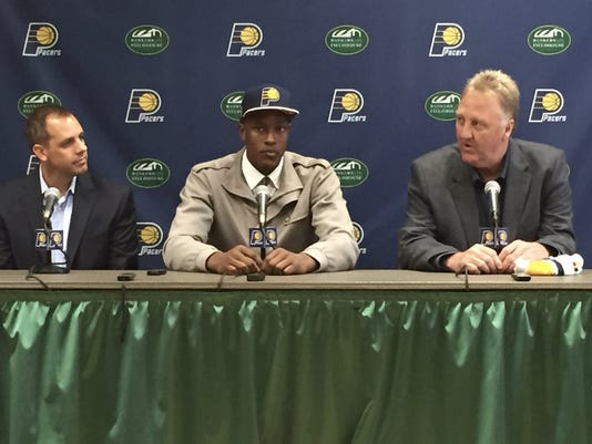 Pacers introduce Myles Turner