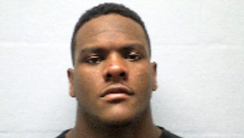 This photo released by the Erie County sheriff's department in Sandusky, Ohio, shows Frank Clark, 21, of Ypsilanti, Mich., when he was booked Nov. 16, 2014.