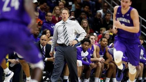 Furman men's basketball coach Niko Medved is pleased with the Paladins 2016-17 schedule, which was announced Tuesday.