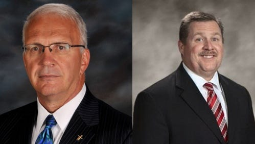 Assistant Knox County Schools Superintendent Bob Thomas, left, and Hamblen County Superintendent Dale Lynch have been recommended as finalists to be the next leader of Knox County Schools.