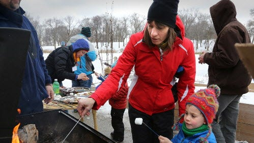 Winter activities at the Urban Ecology Center are fun, regardless of whether there's snow or not.