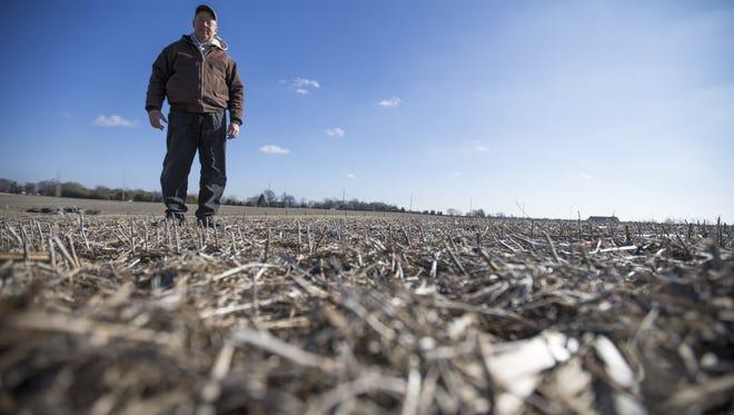 Charles Davis, on his family's 80 acre farm.
