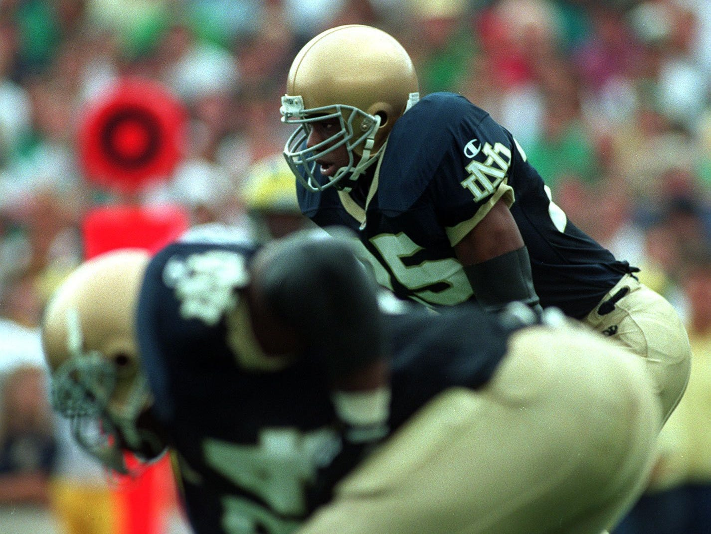 East Lansing's Randy Kinder rushed for 2,295 yards and averaged 5.7 yards per carry during his four seasons at Notre Dame from 1993-96.