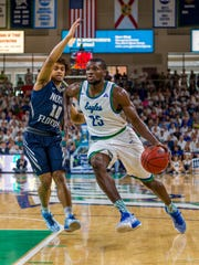 After missing 10 games, FGCU senior Marc-Eddy Norelia has played last his old, ASUN first-team self of late.