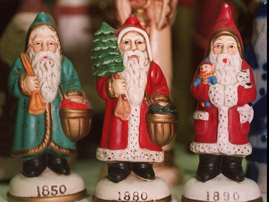 Various Santas are part of the holiday celebrations at the Strong Museum.
