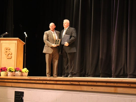 Paul Eckrich was inducted into the Sussex Central Hall