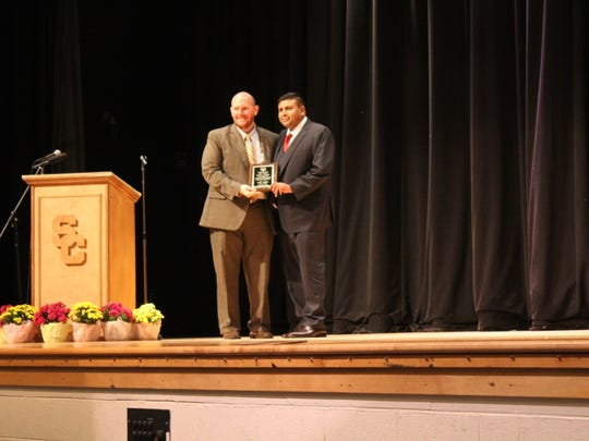 Asher Gulab was inducted into the Sussex Central Hall of Fame on Nov. 18, 2016.
