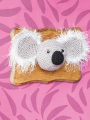 """This crochet taxidermy koala bear is featured in the book """"Crochet Taxidermy,"""" by Taylor Hart."""