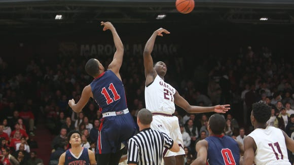 Iona Prep defeated Stepinac 75-67 in boys basketball action before a sellout crowd at Iona College in New Rochelle Feb. 3, 2018.