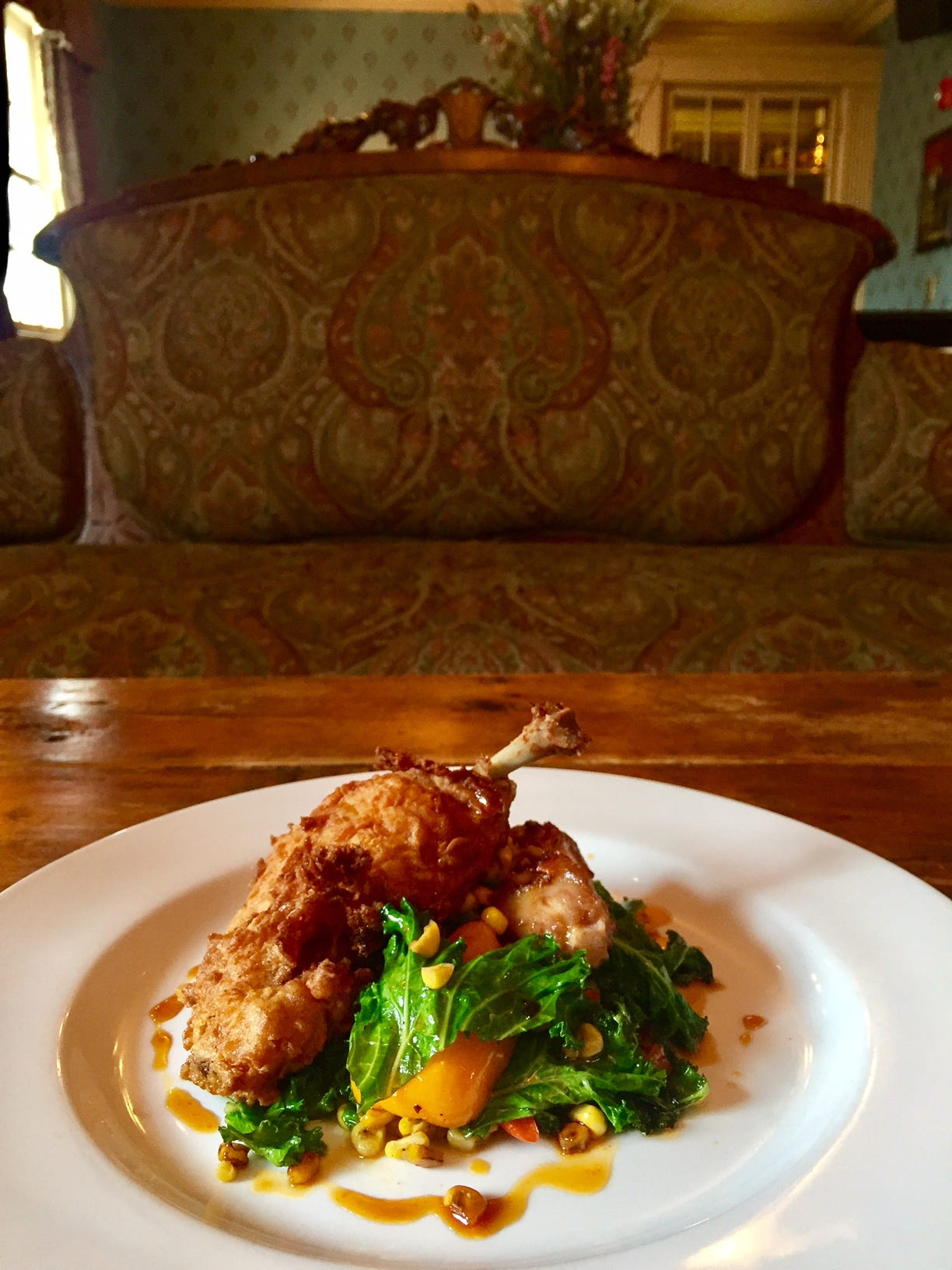 Chicken Fried Duck At The Barrow House In Clifton