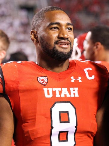 Aug 28, 2014; Salt Lake City, UT, USA; Utah Utes defensive