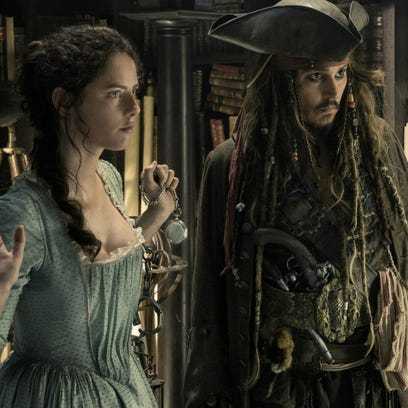 "Kaya Scodelario and Johnny Depp star in ""Pirates of"