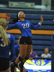 Ontario's Nashail Shelby lines up a kill against Galion