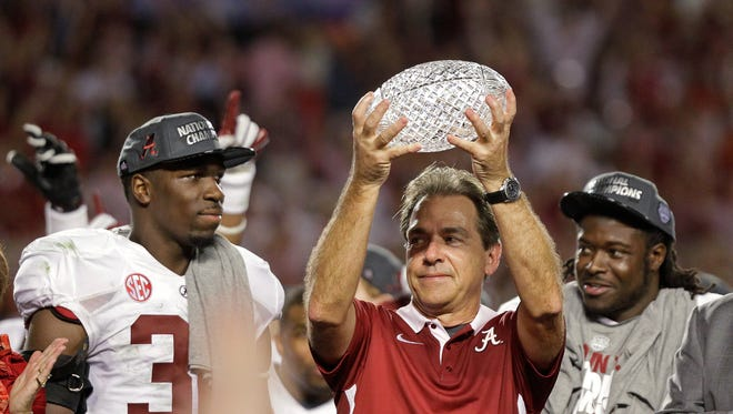 The SEC West won four straight BCS titles from 2009-12, including three by Alabama coach Nick Saban.