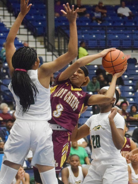 Natchitoches Central vs. Captain Shreve in the LHSAA Class 5A semifinals held Thursday, March 1, 2018 at the Rapides Parish Coliseum in Alexandria.